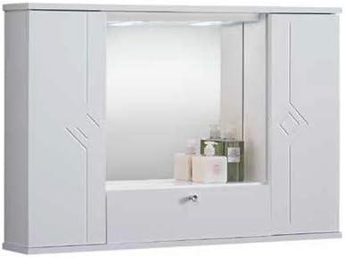 Liberoshopping Espejo de baño Mercurio de 3 Puertas, iluminación LED: Amazon.es: Hogar