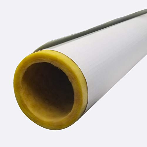 Frost King F16XAD Pre-Slit Tubular Fiberglass Cover with Self-Sealing Jackets (Bulk) for 2-1/2 Pipes