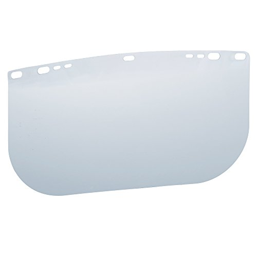 """Jackson Safety F20 High Impact Face Shield (29099), Polycarbonate, 8"""" x 15.5"""" x 0.04"""", Clear, Face Protection, Unbound, 36 Shields / Case -"""