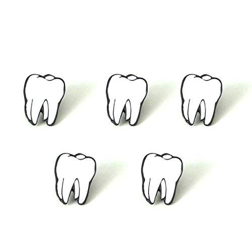 Heart Tooth - Vio-la Brooch Mini Alloy Heart Teeth Brain Eye Human Organ Brooch Fashion Jewelry Personality Brooch Badge Collar Accessories 5pcs