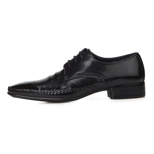 New Italian Style Black Oxford Mens Leather Dress Shoes