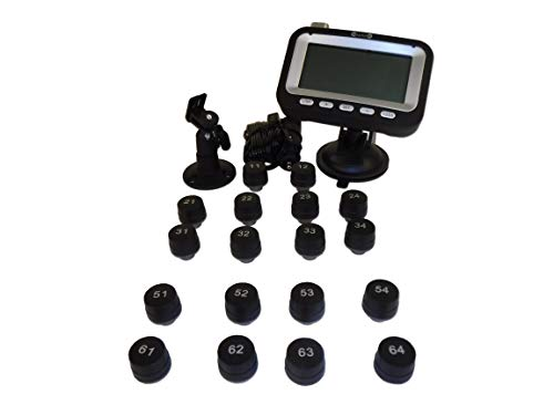 BELLACORP Tire Pressure Monitoring System TPMS Eighteen (18) Sensors for 18 Wheeler, Big Rig, Tractor Trailer, Truck Tractor, or Truck