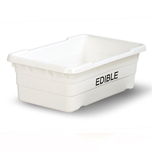 UltraSource Food Approved Bus Tote, Stamped''Edible'', White by UltraSource
