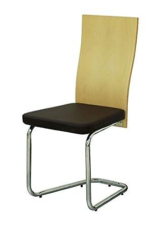 6x Konferenzstuhl Freischwinger Besucherstuhl Stuhl mit Holzlehne ...