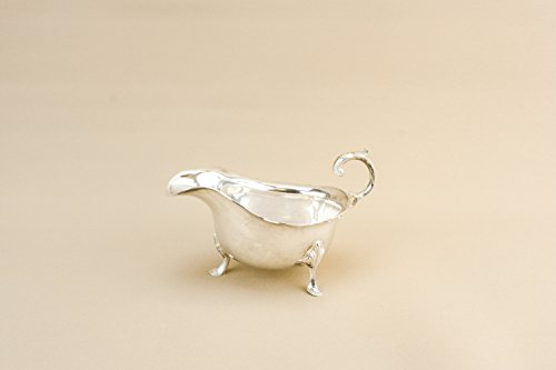 Vintage Silver Plated Metal James Dixon Sons Small Serving Dinner GRAVY BOAT Traditional Spectacular English 1930s LS
