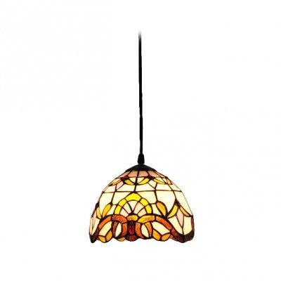 Hua Baroque 8 Inches Wide Single Light Tiffany Mini Pendant