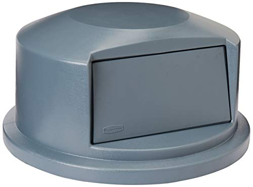 Rubbermaid Commercial Heavy-Duty BRUTE Dome Swing Top Door Lid for 44 Gallon Waste/Utility Containers, Plastic, Gray (FG264788GRAY) (Renewed)