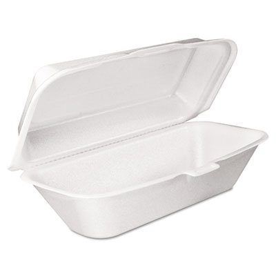 Dart 99HT1R Hoagie Perforated Foam Hinged Container, 9.75 X 5.25 in (Case of ()