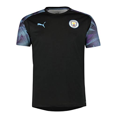 - PUMA 2019-2020 Manchester City Training Football Soccer T-Shirt Jersey (Black)