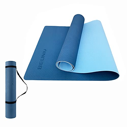 BEUNIV Widening Yoga Mat, (72″X26″X 1/4″) Non Slip Eco Friendly Fitness Exercise Mat with Carrying Strap, Professional Yoga Mats for Women Men, Workout Mats for Home, Pilates and Floor Exercises