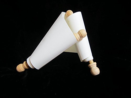 Small Blank Scroll 4'' x36'' for historic writing-Oak, gold, silver by Scribal Work Shop