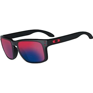 75d624b190 Image Unavailable. Image not available for. Color  Oakley Holbrook Matte  Black Red Lens Sunglasses