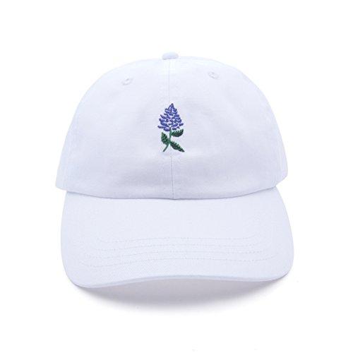 AUNG CROWN Lavender Embroidered Adjustable Dad Hat Cotton Ba