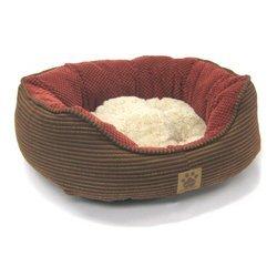 Precision Pet 26 by 22 by 10-Inch Pillow Soft Daydreamer, Medium, Dark Rust Plaid/Bump Chenille