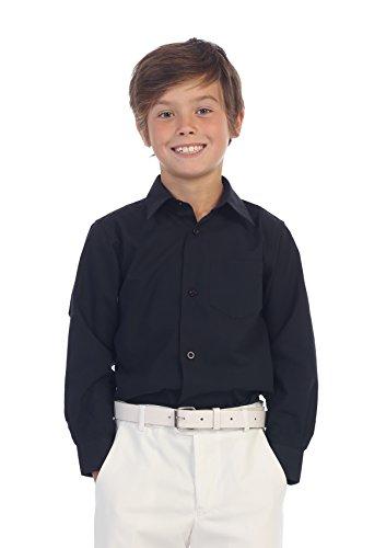 Buy black long sleeve dress shirt boys