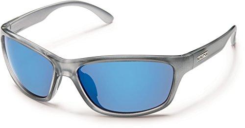 Suncloud Rowan Polarized Sunglasses, Silver Backpaint - Small Mens Sunglasses Face