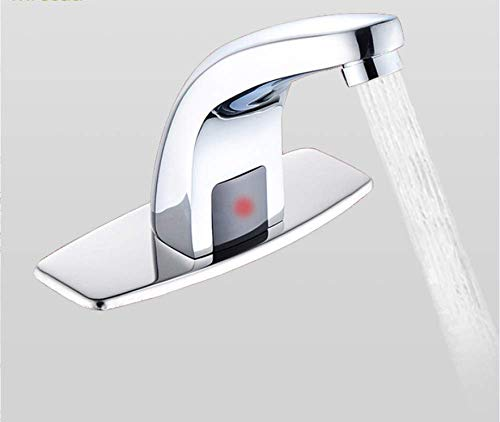- SLTYSCF Faucet 220V Automatic Inflared Sensor Water Saving Electric Water Tap Smart Touchless Coldwater Sensor Faucet For Bathroom Sink