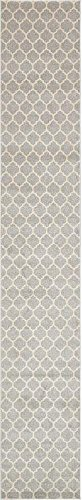 Unique Loom Trellis Collection Light Gray 3 x 16 Runner Area Rug (2' 7