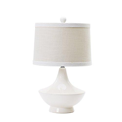Fangio Lighting 22 in. White Ceramic Table Lamp