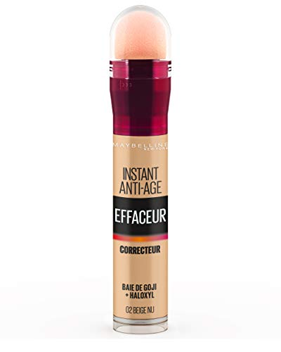 Gemey Maybelline Instant Anti-Ageing, Correttore per occhiaie, 20 Nude Beige