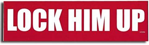 [해외]Gear Tatz Lock HIM UP 새로운 범퍼 자석데칼 진동 방지 트럼프 트럭 자유 민주당 정치용 / Gear Tatz Lock HIM UP New Bumper MagnetDecal Impeach Anti Trump for Cars for Trucks Liberal Democrat Political