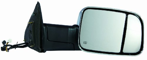 (Depo 334-5419R3ECH1 Dodge RAM 1500/2500/3500 Passenger Side Chrome Heated Power Towing Mirror with Memory, Turn Signal, Puddle Lamp)