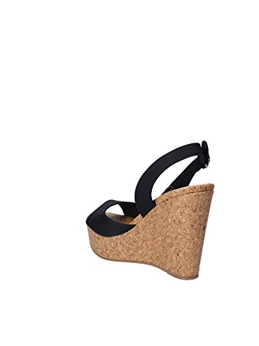 Nero Donna Printed with Hilfiger Espadrillas Wedge Stripes Tommy C0vpqaw