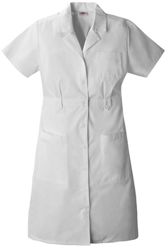 Dickies Medical Scrubs 84500 Women's EDS Prefessional Whites Dress White XX-Large -
