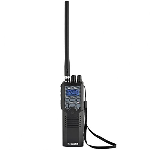 Cobra HH50WXST Hand Held CB Radio, Earphone Jack, 4 Watt, Noise Reduction & NOAA Alerts