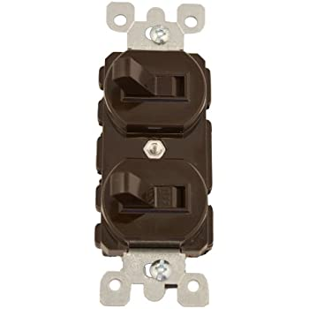leviton sp combo single pole switch brown wall leviton 5241 15 amp 120 277 volt duplex style single pole 3 way ac combination switch commercial grade brown