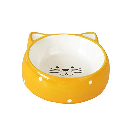 (Ihoming Pet Ceramic Bowl Food Water Dot Dish Cats Puppies Small Dogs, 4.33