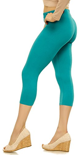 LMB Lush Moda Extra Soft Capri Leggings - Variety of Colors - Teal