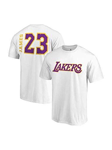 huge selection of c23a0 0a19e Fanatics Unisex Los Angeles Lakers Lebron James Side Sweep Player T-Shirt -  White