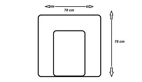 KempKids Wickelauflage aus hochwertiger Baumwolle Wickelunterlage Wickeltischauflage Gr/ö/ße 60x70 cm Anker