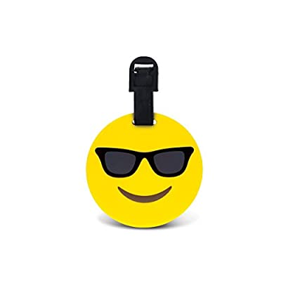 CoTa Global Taggage Smiling Face With Sunglasses Emoji - Silicone Luggage Tags on sale