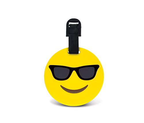 CoTa Global Taggage Smiling Face With Sunglasses Emoji - Silicone Luggage - For The Your Shape Sunglasses Find Best Face