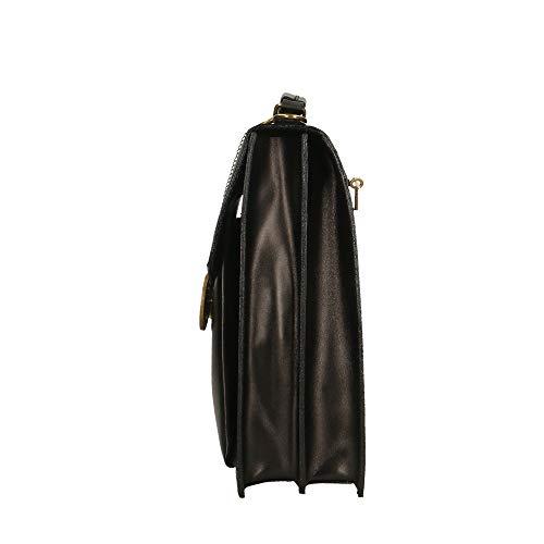 Borse hombro Organizador cm bolso de 27x32x10 Italy in Negro de en Made Pequeño Chicca Piel maletines genuina 4ndW0Hdq