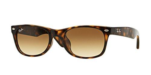Ray-Ban Men's RB2132F New Wayfarer (F) Sunglasses Light Havana / Crystal Brown Gradient - New Ray Light Sunglasses Ban Wayfarer Havana