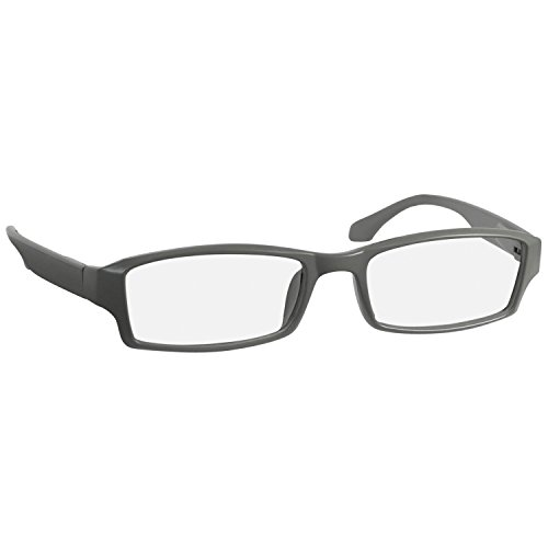 Reading Glasses 1.25 Flat Gray F501 (Single) by TruVision Readers
