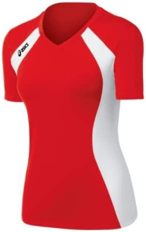 Asics Women's Aggressor Volleyball Jersey (Red/White)