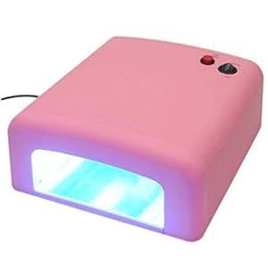 36w Professional 220v Uv Nail Art Gel Polish Curing Light Dryer Tube Lamp Pink Color