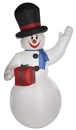 3 m gigante de muñeco de nieve hinchable: Amazon.es: Iluminación