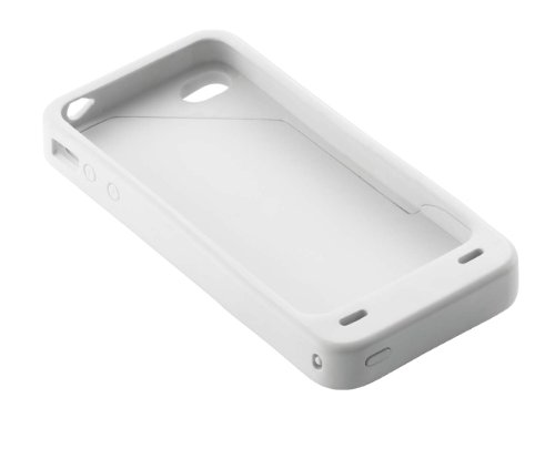 Energizer PP-IP4SW iPhone 4S and iPhone 4 Charging Case - 1 Pack - Retail Packaging - White