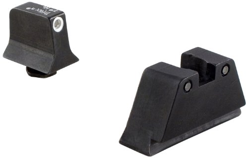 Trijicon Suppressor White Outline Front and Black Rear Night Sight Set for Glock Models