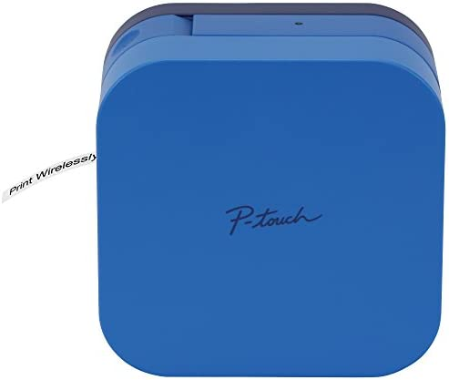 Brother P-Touch Cube Smartphone Label Maker, Bluetooth Wireless Technology, Multiple Templates Available, Apple & Android Compatible – Blue