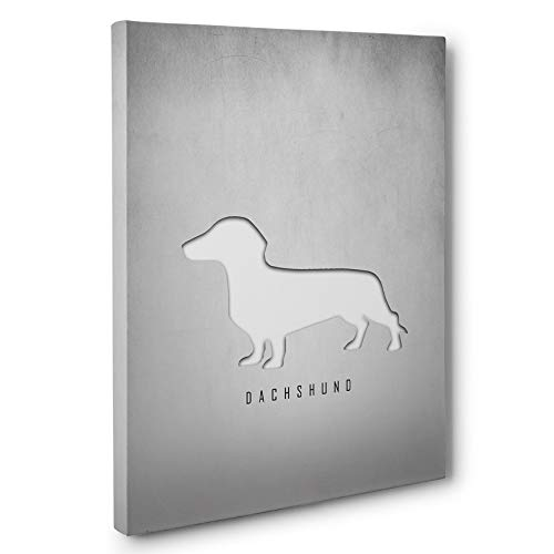Used, Dachshund Silhouette CANVAS Wall Art for sale  Delivered anywhere in USA
