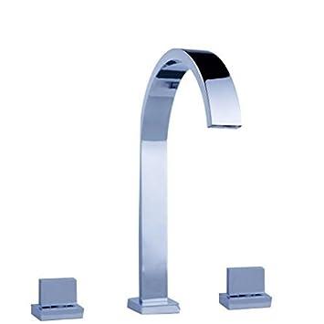 Aquafaucet Widespread Bathroom Sink Faucet Basin Vanity Mixer Tap
