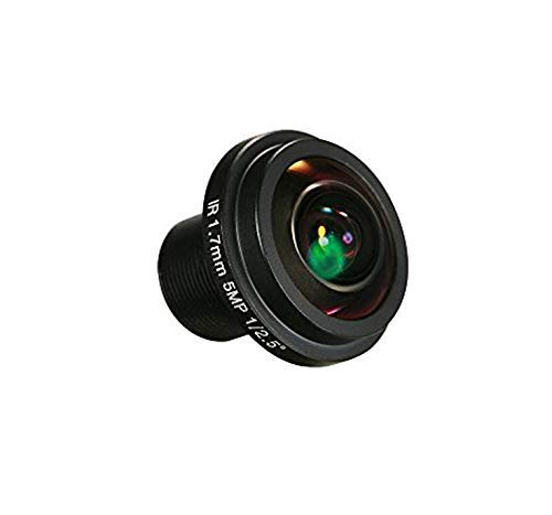 Yohii 1.7mm/0.06 Inch Fisheye Lens HD 5.0 Megapixel BL17820-5MP for CCTV IP Camera 180 Degree Wide Angle Panoramic CCTV Camera Lens