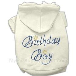 Mirage Pet Products 12-Inch Birthday Boy Hoodies, Medium, Cream by Mirage Pet Products (Image #1)