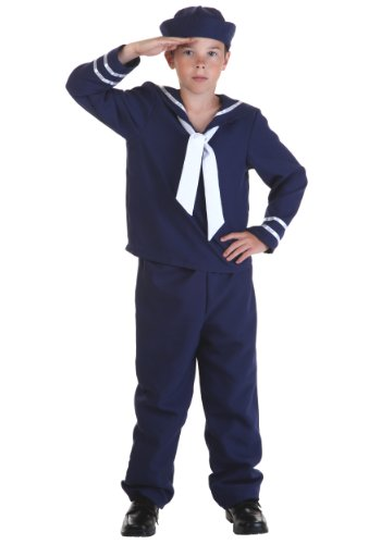 Sailor Costumes Boy (Big Boys' Blue Sailor Costume X-Large (16))